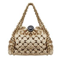 Wholesale 2016 New PU leather tote bags for women handbag Gold Chain Shell Handbags Diamond Lattice Tote Geometry Quilted Handbags