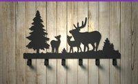 Wholesale Forest deer coat hooks Coat hook hook wrought iron wall hanging behind the kitchen door hook Coat hanger