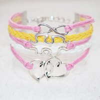 antique silver items - Antique Silver heart map infinity charm bracelets multi colors handmade and bangles gift items for women and men multilayer leather kiss me