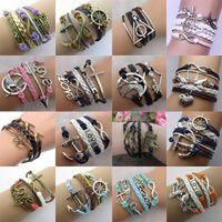 amethyst tennis bracelet silver - Infinity bracelets HI Q Jewelry fashion Mixed Infinity Charm Bracelets Silver Style chic bracelets E28J