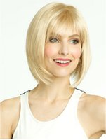 Wholesale Hot Selling European and American Women Wig Fashion Golden Lady Short Straight Hair Wig Factory Accept OEM