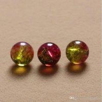 Wholesale DIY Bracelets necklace beads mm Brazilian ice Watermelon crystals imitation Tourmaline round ball european loose beads jewelry CN