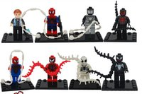 Wholesale 80pcs Building Blocks Action Figure Minifigures Spiderman Spider man Figure