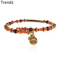 bead wrap bracelet diy - 2015 Retro Alex Ani Wine Red Wood Beads Orange Gold Beaded Urchin Uncharted Voyage Wrap Bracelet Bangle DIY Jewelry AA20155