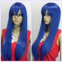 Wholesale New Wig The Blue Wig Long Straight Hair