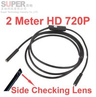 android checking - 2M P quot diameter endoscope camera support PC Android phone OTG function video checking inspection endoscope camera side lens function