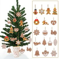 acrylic snowflake decorations - 17Pcs Animal Snowflake Biscuits Christmas Hand Made Polymer Clay Pendants For Phone Christmas Tree Decoration party decoration