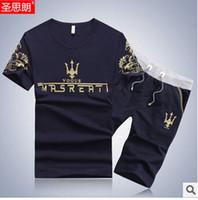 Wholesale Fall Summer Sport Suit Men Brand Casual Floral Guchi Men Clothing Set Cotton T Shirt Shorts Tracksuits M XXXL Multiple colors