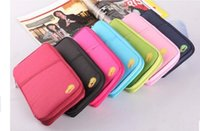 Wholesale 2015 HOT New Passport Holder Organizer Wallet multifunctional document package candy travel wallet portable purse business card bag p LB1