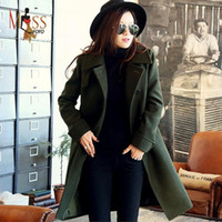 Wholesale fashion Casual women s Plus Size Trench Wool Coat medium long Winter Jackets parka coats Outerwear for lady good quality C0224