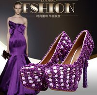 adhesive glass rhinestone - High quality new Ultra high with Glass slipper Women s wedding shoes stiletto heel shallow mouth Waterproof Taiwan high heeled shoes
