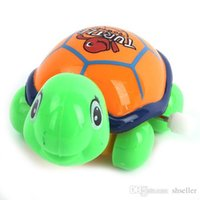 Wholesale Lovely Wind up Movement Turtle Plastic Tortoise Safety Walking Toys Colorful A5