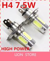 Wholesale WARM WHITE WHITE H4 W PAIR HIGH POWER LED BULBS CAR FOG LAMP V