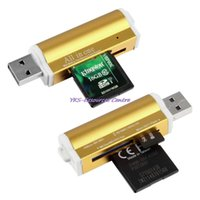 Wholesale Hot All in one USB Multi Memory Card Reader for SD TF M2 MMC SDHC MS Memory Stick New Fashion