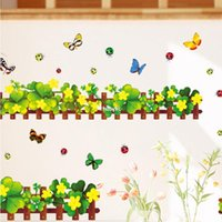 baseboard sizes - 10pcs Supply AM5004 Clover environmental protection European standard PVC transparent film of small size baseboard wall stickers