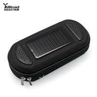 solar phone case - Newest Black Portable Solar Charger Speaker Case Cell Phone MP3 MP4 USB for Mountain Road Bike Cycling Traveling Sporting