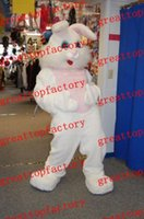 Wholesale 2016 High quality white plush popular Easter Bunny Fancy Dress Cartoon Animal Mascot Costume foam costumes
