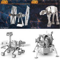 Wholesale DIY D Models Metallic Nano Puzzle star wars ATAT Tie Fighter Kits no glue required For adult Chirstmas gift Free DHL FedEx