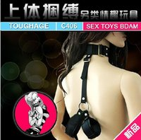 Cheap Genuine alternative bondage hacker C406 upper body tied with fun toys backhand wholesale furniture adult health