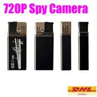 Wholesale 720P Lighter Mini Camera DV AVI Portable Lighter Hidden Spy Cam Camcorder M Pixels Lighter Digital Video Recorder MS