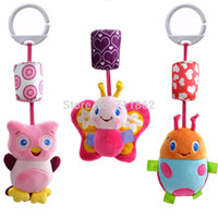 baby jet - Hot sale Baby bed car Hanging Ring Bell Plush Doll Baby Rattle Multifunction Doll Kids Toy