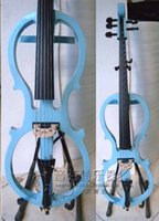 Wholesale Cello New Electric Cello Solid Wood Silent String Blue White Black