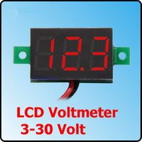 Wholesale New Digital V Car Voltmeter Gauge Voltage Volt LED Panel Meter order lt no tracking