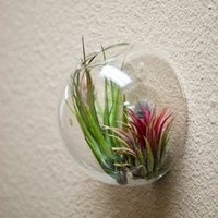 Декор аквариума Цены-Висячие стены стеклянную вазу для салатов, стеклянный аквариум для внутренних помещений, воздушный растительный мох terraruim для домашнего украшения, домашний декор