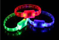 Wholesale Supply glow bracelets concert LED bracelets LED flashing bracelet manufacturer