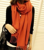 Wholesale 100 Cashmere material Lady popular scarf shawl with Tassels and trimmings fashion scarf for Autumn and Winter