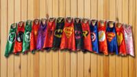 Wholesale layer superhero capes party favors customize logo Superman Spiderman Batman Captain America Ironman CH