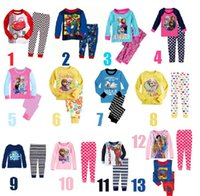 pajamas for children - Pyjamas For Girls Sleeping Clothes Cotton Children s Pajamas Spiderman Baby Boys Clothing PJ Kids Night Wear Home Outfits J2653