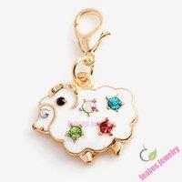Charme agréable chèvre dangle charmes emmagasiner flottant locket, boucle d'oreille, anneau, bracelet, porte-clés ou collier bijoux accessoires, meilleurs cadeaux