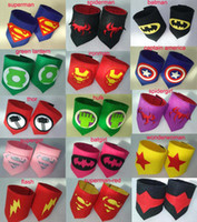 Wholesale kids Superhero Wrist super hero wristband superhero Superman Batman Spiderman avengers cosplay armguard arm bands Children