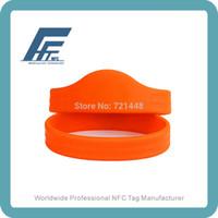 Wholesale NTAG213 RFID Silicone Wristbands Orange Wristbands NFC Silicone Wristbands