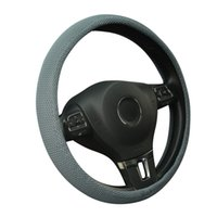 Wholesale AUTOYOUTH Sandwich Fabric Handmade Steering Wheel Cover Breathability Skidproof Universal Fits Most Car Styling Steering Wheel