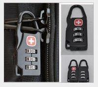 mini padlock - Swiss Cross Black Backpack Knapsack Shoulder Bag Handbag Safety Password Lock Security Coded Locks Mini Combination Padlock