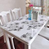 Wholesale Popular Sales PVC Tablecloths Anti oil Waterproof Soft Glass Slip resistant Rectangle Table Cover Home Party Tablecloth JM0116 salebags