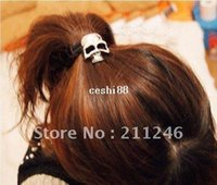 Wholesale Fashion and Personaliry Newest Arrival Jewelry Hot sale Retro punk three dimensional skull hair ring hair rope