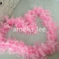 Wholesale Yards Pink Feather Boas Chandelle Feather Boas Marabou Turkey Feather boas Wedding Decoration DIY