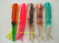 Cheap 18cm Big Squid Sea Fishing Lure Fishing Tackle Squid Tuna Bait Plastic Lure False Bait Artificial Bait Single layers no inner tube