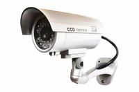 al por mayor ccd cámara de vigilancia-Inicio de vigilancia CAM cámara de seguridad inalámbrica simulada IR simulación falsa ccd cámara impermeable luz roja LED parpadeo de las cámaras falsas