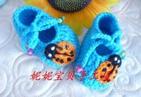 Wholesale Multi styles Crochet handmade knit Baby Booties shoes newborn shoes toddler cotton yarn M