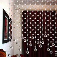 beaded door curtains - Crystal beads curtain blind decoration beaded curtains for Window Door Kitchen Glass fronted billboard Show room hanging curtain