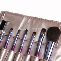 best professional makeup brands - wholesal Best quality Professional cosmetics Brush Set tools Makeup Toiletry Kit Wool Brand Brushes Set gold leather Case