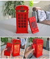 antique phone booth - 150PCS HHA673 New Hot Retro phone booth mini Nightlight LED charging light touch regulation of home decorative lamp antique table lamp Likes