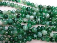 Freeshipping (5 filamentos / set) 6mm naturales de ónix verde piedra de ágata collar de perlas redondas