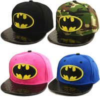 baseball capes - New Fashion Batman Baseball Caps Wome Men Cute Kids Adult Unisex superhero capes Backsnap Cosplay Hats Green Free Size Best Gifts