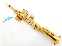 Wholesale French Selmer High pitch Soprano Saxophone One Piece Straight B Flat Saxe Top Musical Instrument sax boquilha