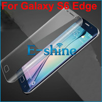 Wholesale Premium Clear PET Full Coverage Film Screen Protector Cover For Samsung Galaxy S6 Edge S6 Edge Plus S7 Edge Completely Curved Edge